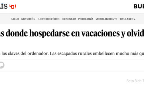 The newspaper El Pais recommends as rural tourism farm
