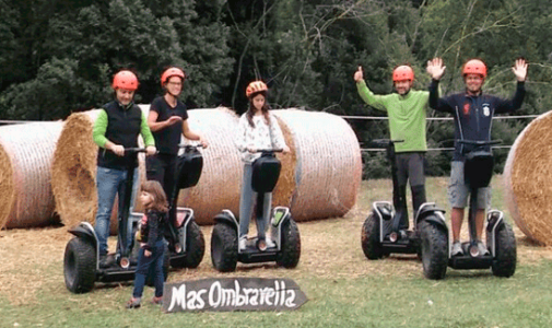 Garrotxa Mas Ombravella Segway Besuch in Mieres