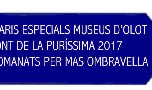Data berezietan BRIDGE MUSEOA OLOT PURISSIMA 2017