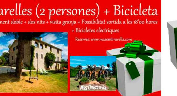 Vouchers for couples and families Mas Ombravella bike